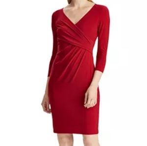 Lauren Ralph Lauren Jersey 3/4 Sleeve Dress